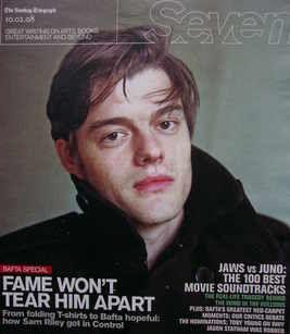 <!--2008-02-10-->Seven magazine - Sam Riley cover (10 February 2008)