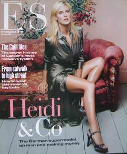 Evening Standard magazine - Heidi Klum cover (8 October 2004)