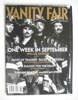 <!--2001-11-->Vanity Fair magazine - One Week In September cover (November