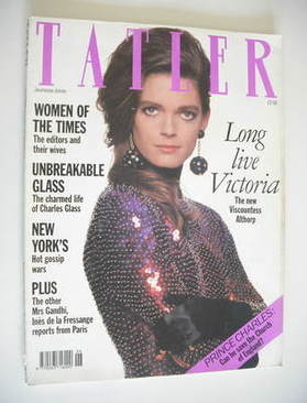 <!--1990-06-->Tatler magazine - June 1990 - Viscountess Althorp cover