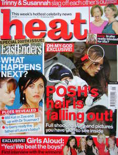 <!--2003-01-04-->Heat magazine - Victoria Beckham cover (4-10 January 2003