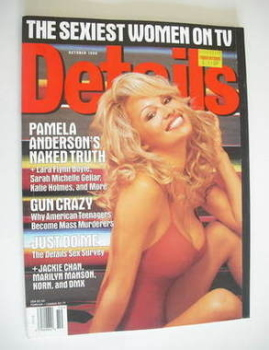 Details magazine - October 1998 - Pamela Anderson cover