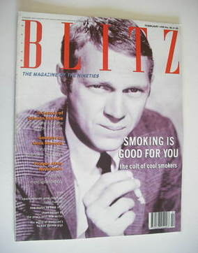 <!--1990-02-->Blitz magazine - February 1990 - Steve McQueen cover