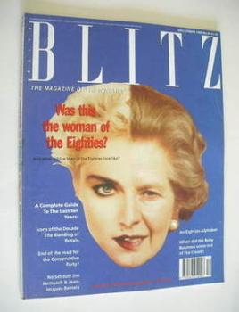 Blitz magazine - December 1989 - Madonna / Margaret Thatcher cover