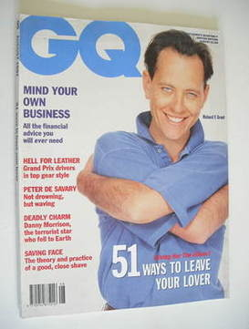 <!--1991-08-->British GQ magazine - August 1991 - Richard E Grant cover