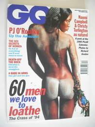 British GQ magazine - December 1994 - Naomi Campbell cover