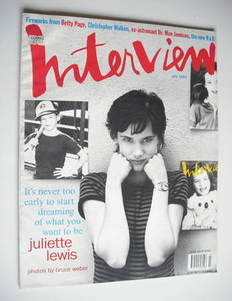 Interview magazine - July 1993 - Juliette Lewis cover