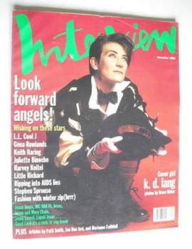 Interview magazine - December 1992 - K D Lang cover