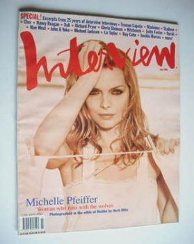 Interview magazine - July 1994 - Michelle Pfeiffer cover