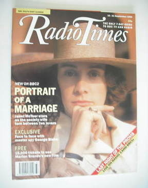 <!--1990-09-15-->Radio Times magazine - Janet McTeer cover (15-21 September