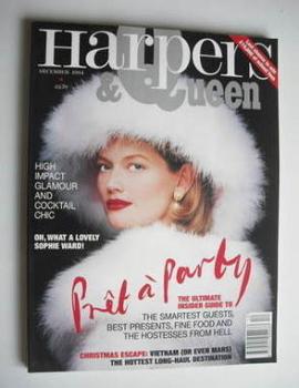 British Harpers & Queen magazine - December 1994 - Sophie Ward cover