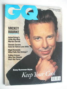 <!--1990-07-->British GQ magazine - July 1990 - Mickey Rourke cover