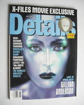 Details magazine - June 1998 - Gillian Anderson cover