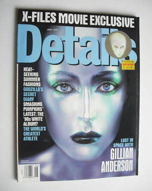 <!--1998-06-->Details magazine - June 1998 - Gillian Anderson cover