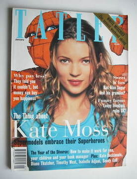 <!--1995-01-->Tatler magazine - January 1995 - Kate Moss cover