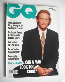 British GQ magazine - May 1990 - Charles Dance cover