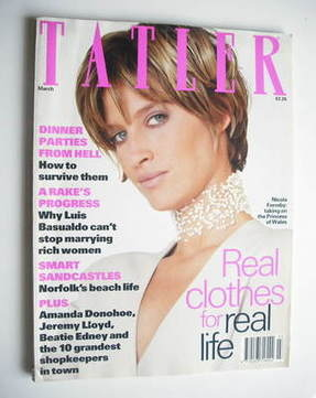 <!--1993-03-->Tatler magazine - March 1993 - Nicola Formby cover