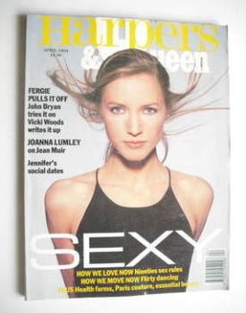 British Harpers & Queen magazine - April 1993 - Cecilia Chancellor cover