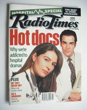 <!--1995-06-03-->Radio Times magazine - Helen Baxendale and Mandy Patinkin