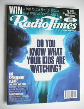 <!--1995-05-27-->Radio Times magazine - Do You Know What Your Kids Are Watc