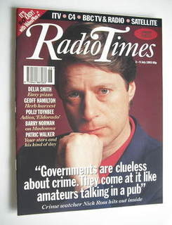 <!--1993-07-03-->Radio Times magazine - Nick Ross cover (3-9 July 1993)