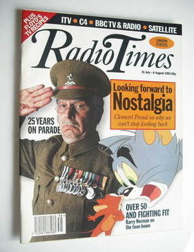 <!--1993-07-31-->Radio Times magazine - Clive Dunn cover (31 July - 6 Augus