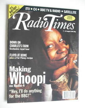 <!--1993-08-07-->Radio Times magazine - Whoopi Goldberg cover (7-13 August