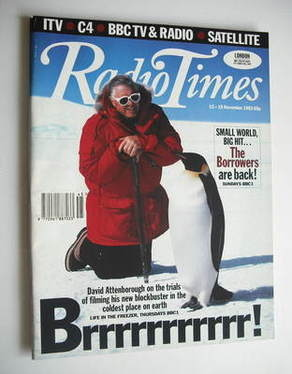 <!--1993-11-13-->Radio Times magazine - David Attenborough cover (13-19 Nov
