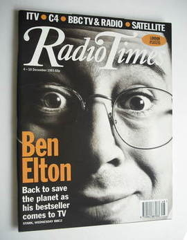 <!--1993-12-04-->Radio Times magazine - Ben Elton cover (4-10 December 1993