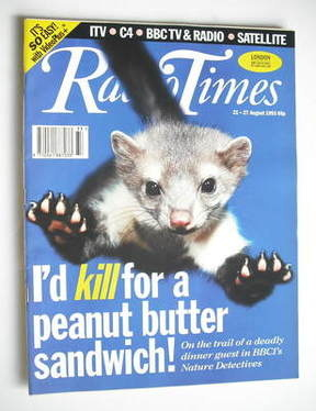 <!--1993-08-21-->Radio Times magazine - Pine Marten cover (21-27 August 199