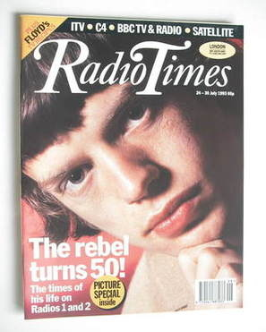 <!--1993-07-24-->Radio Times magazine - Mick Jagger cover (24-30 July 1993)