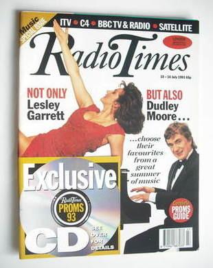 <!--1993-07-10-->Radio Times magazine - Lesley Garrett and Dudley Moore cov