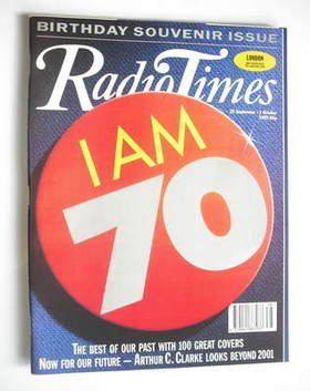 <!--1993-09-25-->Radio Times magazine - I Am 70 cover (25 September - 1 Oct