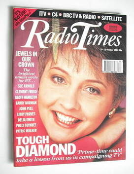 <!--1993-10-09-->Radio Times magazine - Anne Diamond cover (9-15 October 19