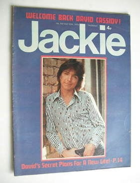 <!--1974-05-25-->Jackie magazine - 25 May 1974 (Issue 542 - David Cassidy c