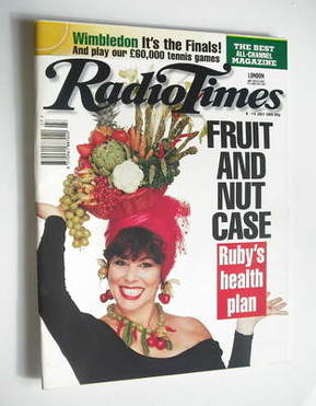 <!--1995-07-08-->Radio Times magazine - Ruby Wax cover (8-14 July 1995)