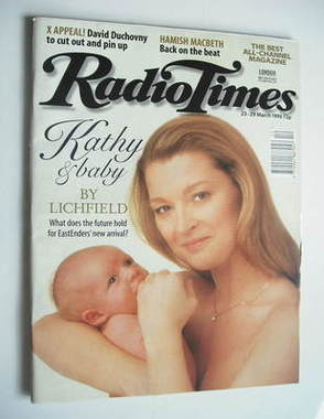 <!--1996-03-23-->Radio Times magazine - Gillian Taylforth cover (23-29 Marc
