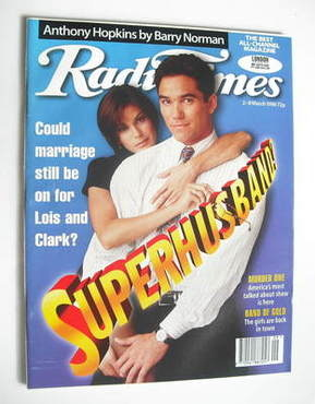 <!--1996-03-02-->Radio Times magazine - Dean Cain and Teri Hatcher cover (2
