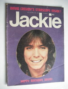 Jackie magazine - 13 April 1974 (Issue 536 - David Cassidy cover)