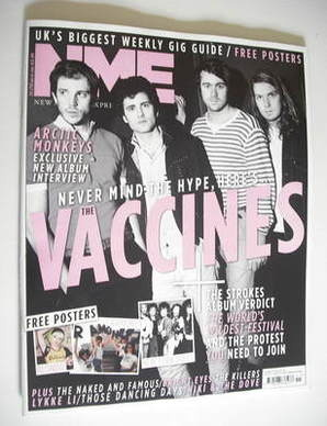 <!--2011-03-19-->NME magazine - The Vaccines cover (19 March 2011)