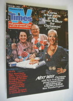 <!--1982-12-18-->TV Times magazine - Julie Goodyear, Fred Feast and Betty Driver cover (18-24 December 1982)