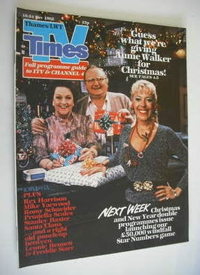 <!--1982-12-18-->TV Times magazine - Julie Goodyear, Fred Feast and Betty D