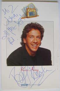 Ross King autograph
