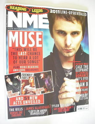<!--2011-03-26-->NME magazine - Matt Bellamy cover (26 March 2011)