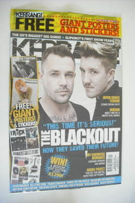<!--2011-03-26-->Kerrang magazine - The Blackout cover (26 March 2011 - Iss