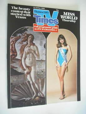 <!--1982-11-13-->TV Times magazine - Miss World cover (13-19 November 1982)