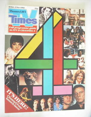 <!--1982-10-30-->TV Times magazine - Channel 4 Launch issue (30 October - 5