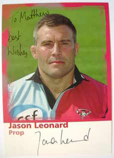 Jason Leonard autograph