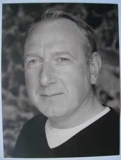 Adrian Scarborough autograph (hand-signed photograph, dedicated)
