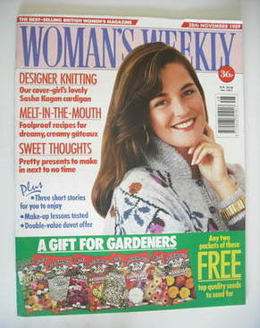 <!--1989-11-28-->Woman's Weekly magazine (28 November 1989)
